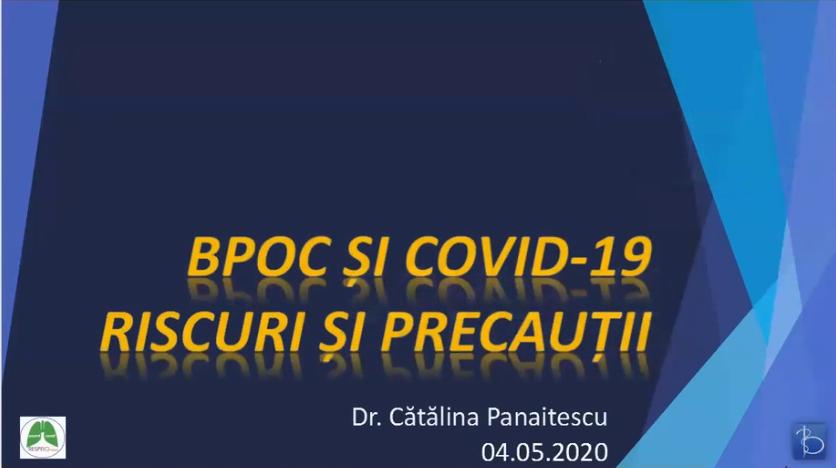 BPOC si COVID-19 – Riscuri si precautii