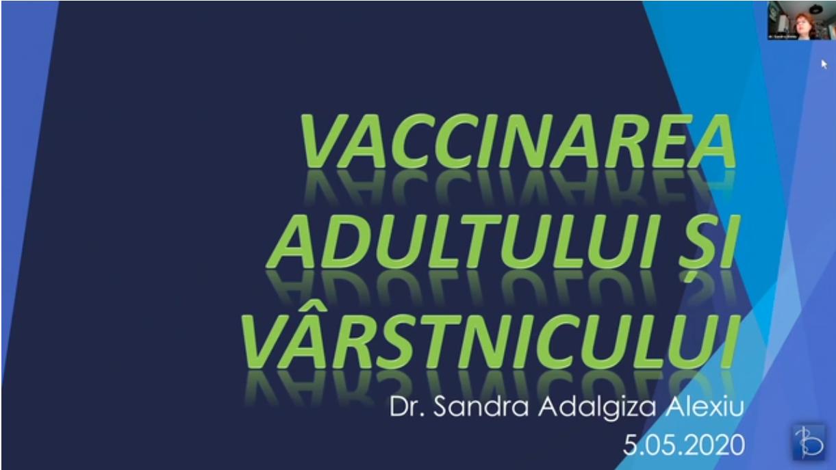 Vaccinarea adultului si a varstnicului