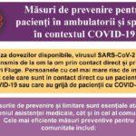 Masuri de prevenire pentru pacienti in ambulatorii si spital, in contextul COVID-19