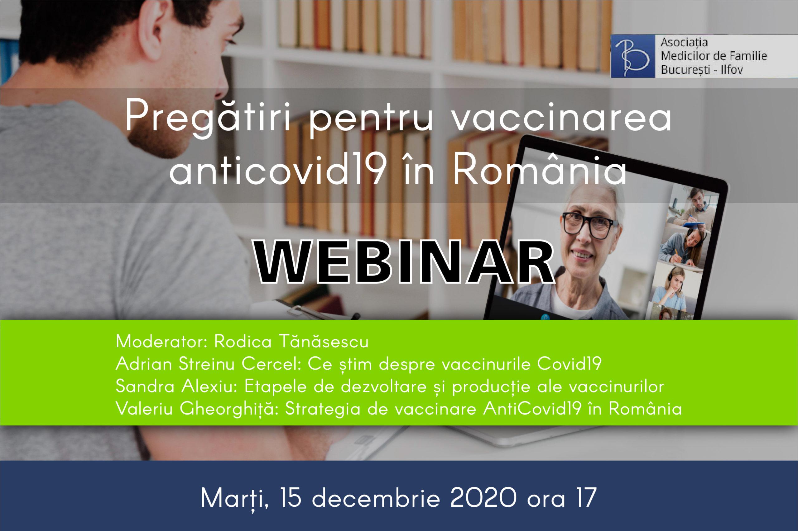 Pregătiri pentru vaccinarea anticovid19 în Romania