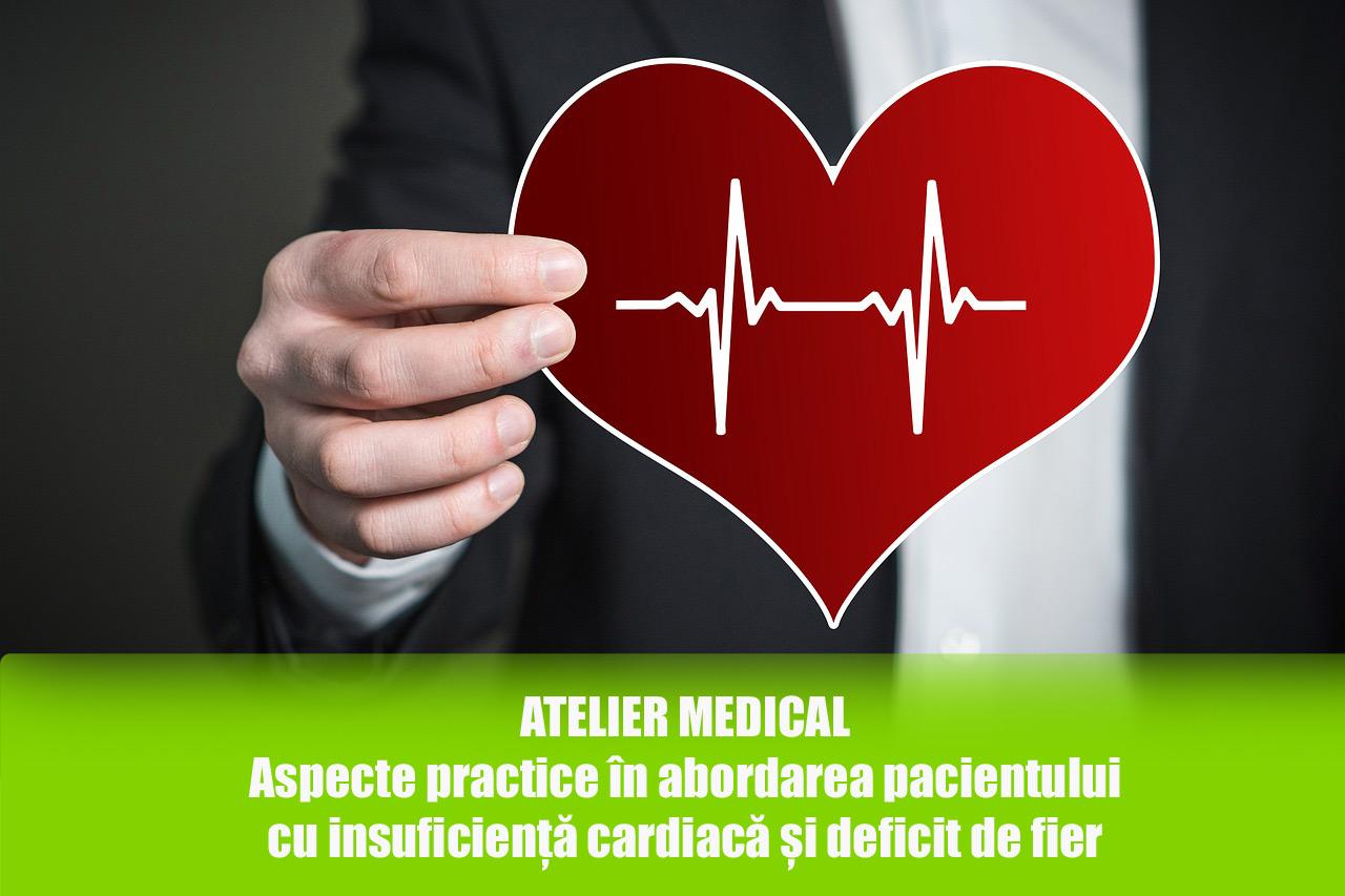 Aspecte practice în abordarea pacientului cu insuficiență cardiacă și deficit de fier